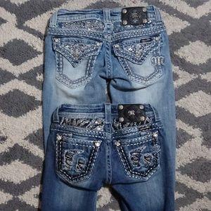 2 Miss Me jeans size 23